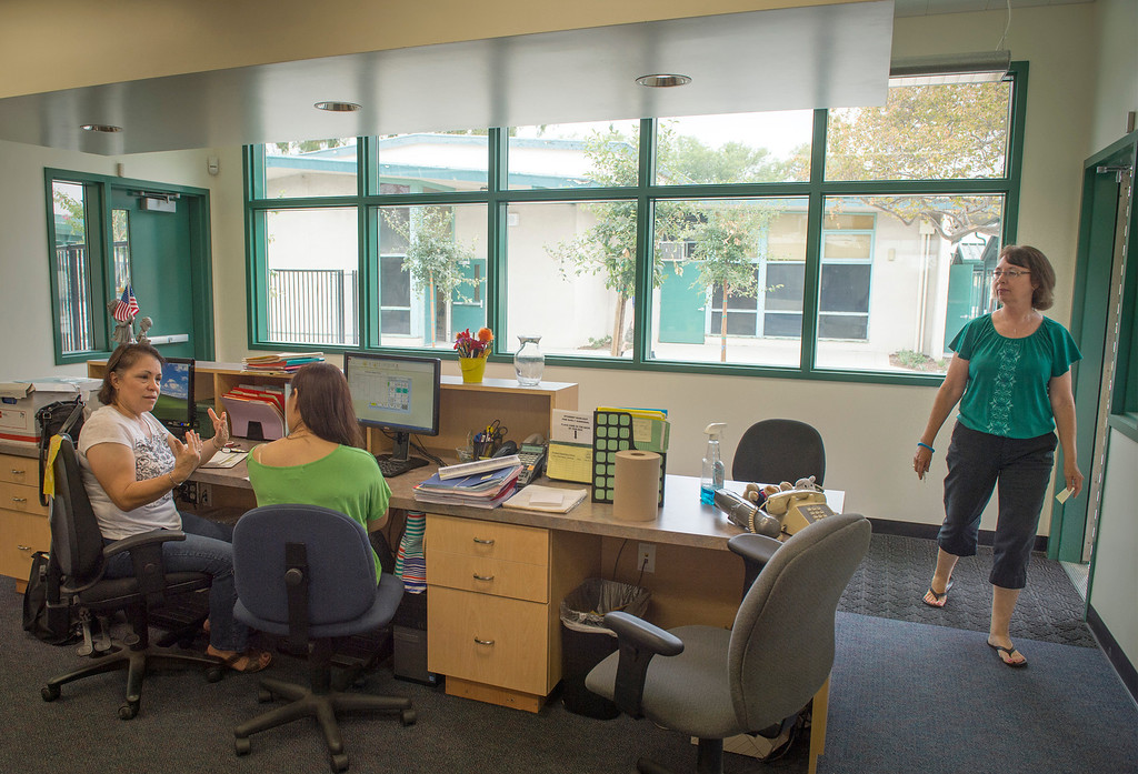 . Rowland Elementary School\'s newly renovated offices at the Rowland Heights campus August 7, 2013.   (SGVN/Staff photo by Leo Jarzomb)