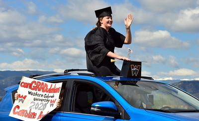 Photos: Graduation Parade in Boulder During Coronavirus Pandemic