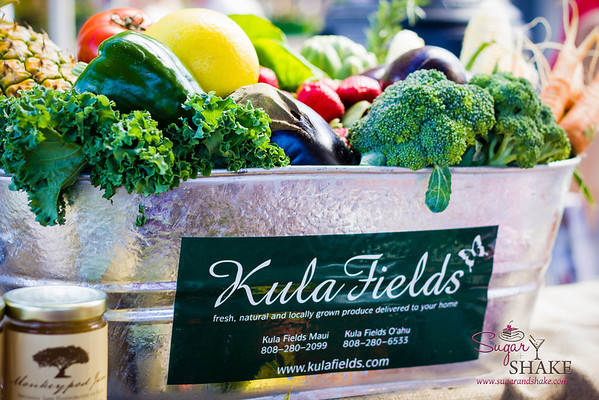 Kula Fields at the Grown on Maui Whalers Village Farmers Market. They offer CSA boxes both on Maui and O'ahu. © 2013 Sugar + Shake