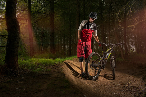 Photographing a Downhill Mountain Bike Rider