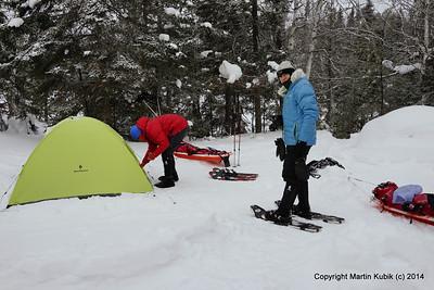 Snowcamping on Alton L Jan 31 2014