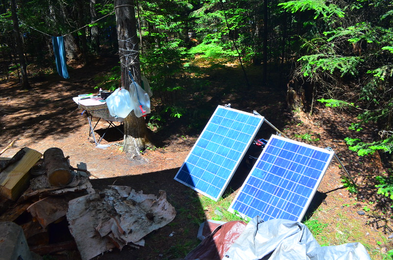 Solar power for camp.
