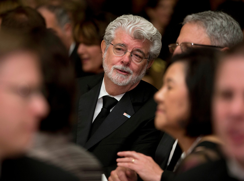 . Producer George Lucas attends the White House Correspondents\' Association Dinner at the Washington Hilton Hotel, Saturday, April 27, 2013, in Washington.  (AP Photo/Carolyn Kaster)