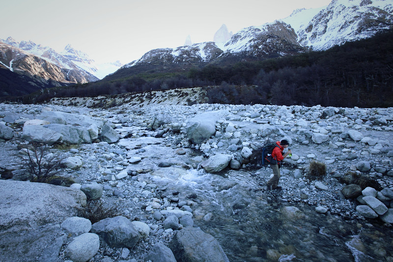 Hiking in Patagonia - Best Travel Water Bottle