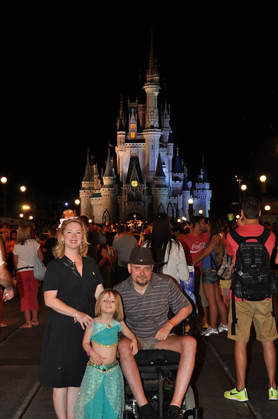 The Wojcik family:  At Disney World
