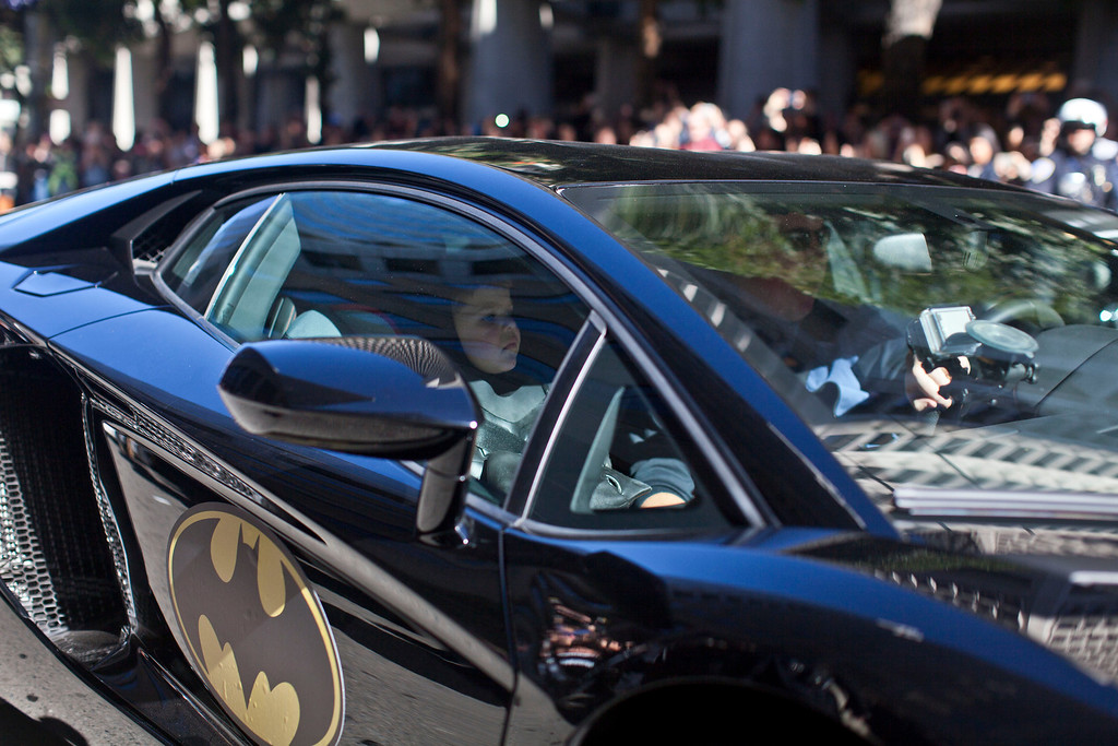 . 5-year-old leukemia survivor Miles, also known as BatKid leaves in his Batmobile after arresting the Riddler November 15, 2013 in San Francisco. Make-A-Wish Greater Bay Area foundation turned the city into Gotham City for Miles by creating a day long event bringing his wish to be a BatKid to life. (Photo by Ramin Talaie/Getty Images)