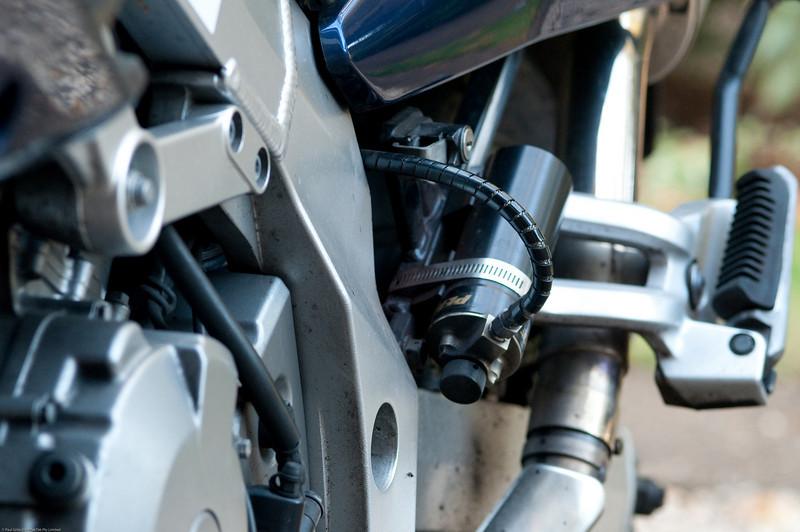 Penske Racing rear Nitrogen filled suspension with remote reservoir