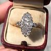 .88ctw Antique Navette Diamond Ring 4