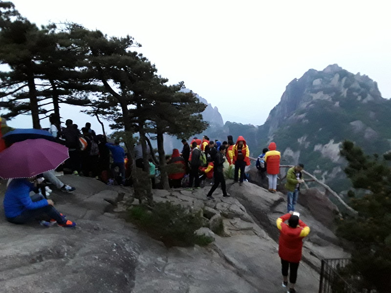 The hotels provide parkas for their guests to use for the morning sunrise summit hikes.