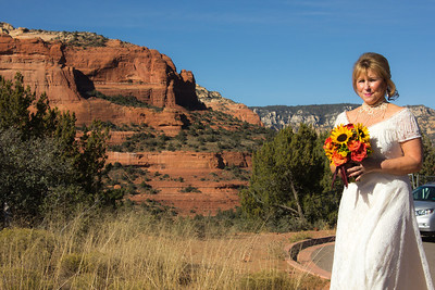 Tom & Colleen at Rachel's Knoll, Sedona, with Shanandoah
