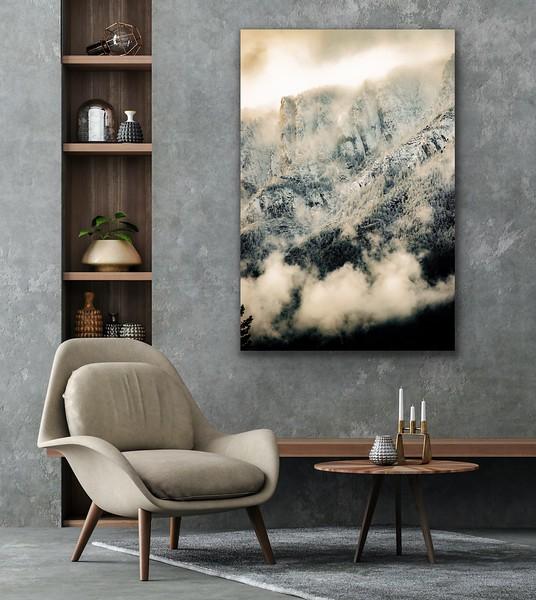 'Bootleg Mountain' Canvas Wrap or Float Mount Metal Print