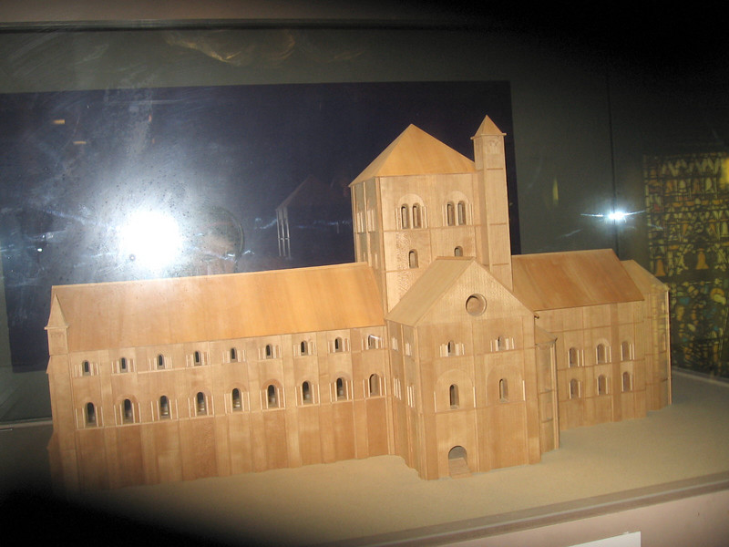Model of the Norman Cathedral at York.