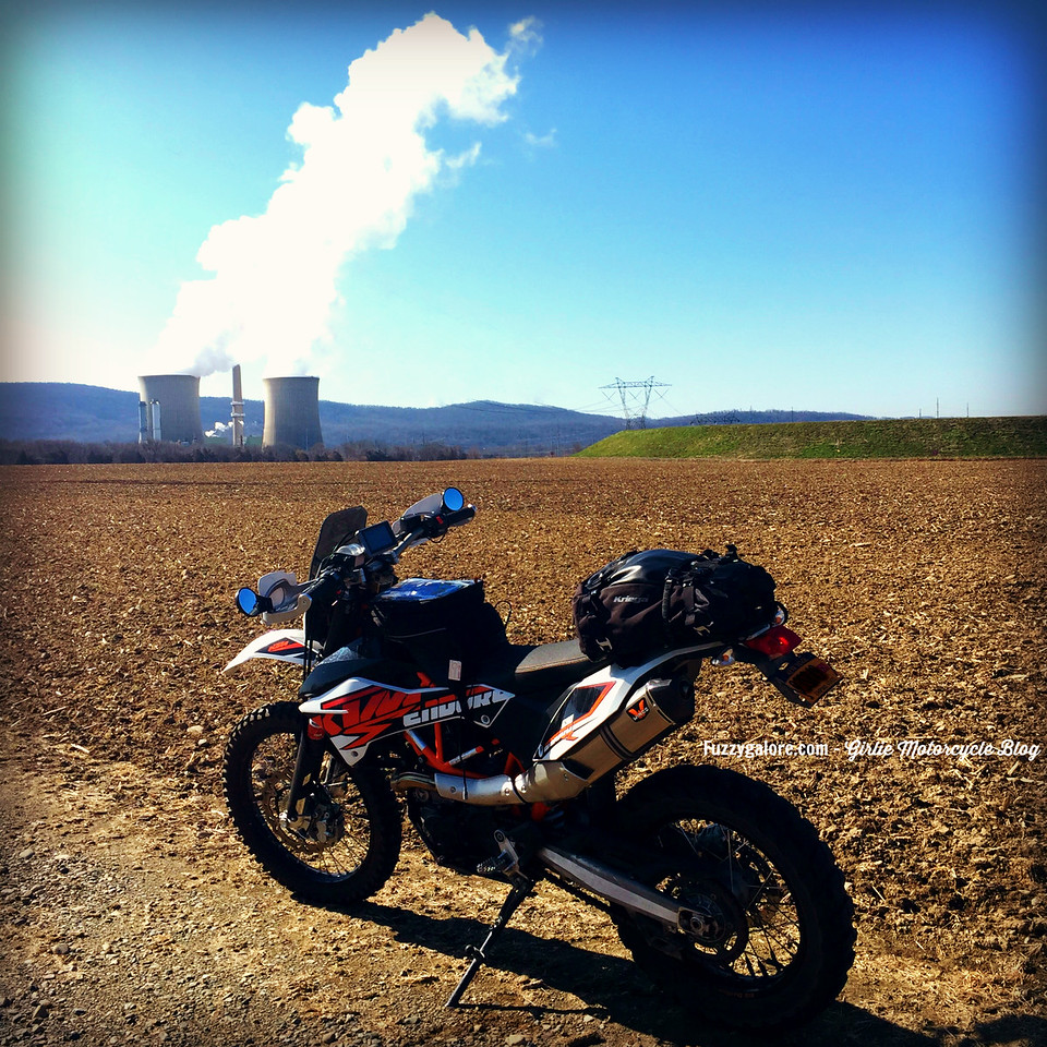 My KTM690 Enduro and a Nuclear Power Plant