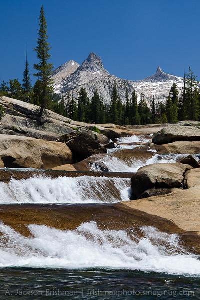 Cascades in the Tuolumne River under Yosemite's high peaks, July 2016.