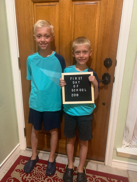 Travis and Parker | 3rd grade and 1st grade | Whitestone Elementary