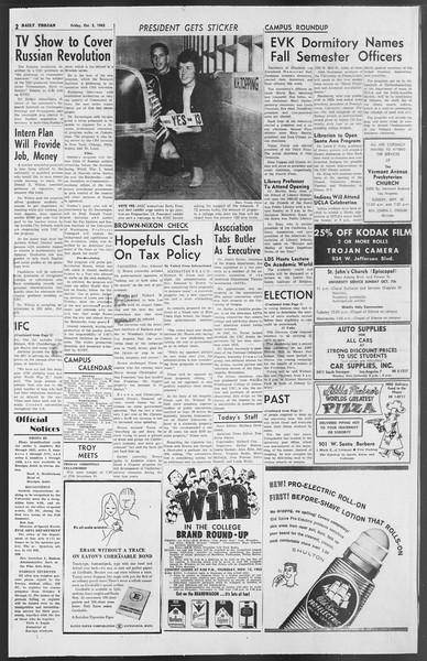 Daily Trojan, Vol. 54, No. 11, October 05, 1962