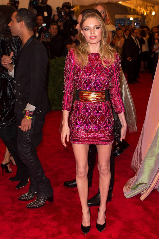 """. Actress Kate Bosworth arrives at the Metropolitan Museum of Art Costume Institute Benefit celebrating the opening of \""""PUNK: Chaos to Couture\"""" in New York, May 6, 2013. REUTERS/Lucas Jackson"""