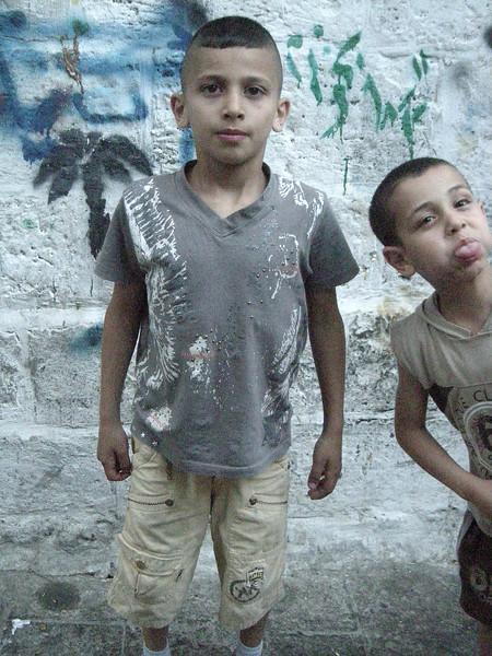 kids in the Muslim Quarter old Jerusalem