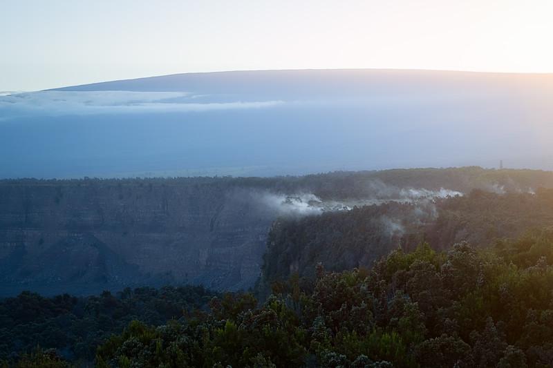 Kilauea with Mauna Loa in the Background