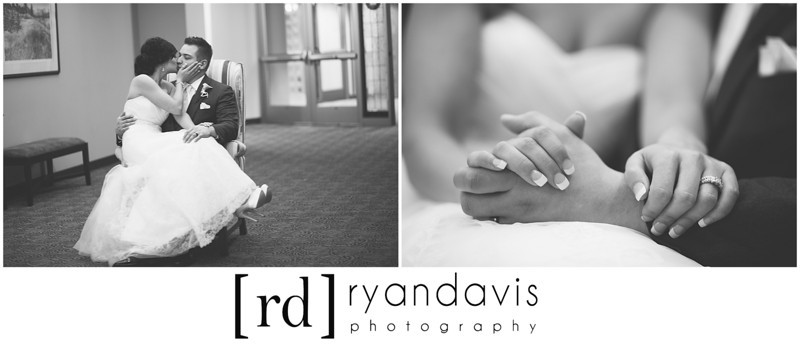 Newlywed, Bridal Party and Family portraits at Westminster Presbyterian Church and Franchesco's in Rockford, IL. Wedding photographer – Ryan Davis Photography – Rockford, Illinois.