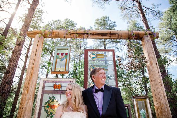 Barbara and Marvin   Groom Creek Schoolhouse Wedding