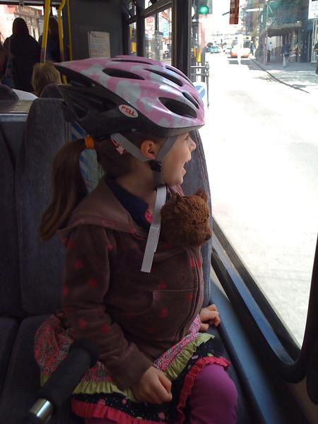 Molly rides the bus