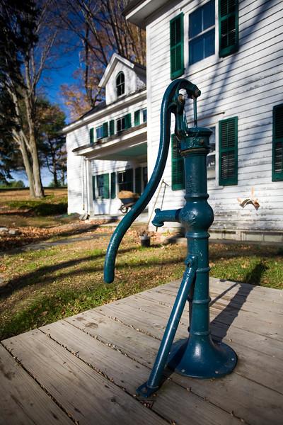 Old water pump, Ambler Farm, Wilton, CT, USA