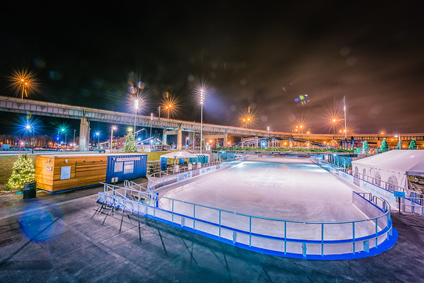 Ice Rink at Canalside Grand Opening