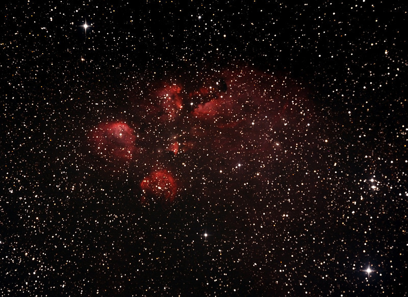 NGC6334 - Gum 64 - Cat's Paw or Bear Claw Nebula in Scorpius - 3/8/2013 (Processed cropped stack)