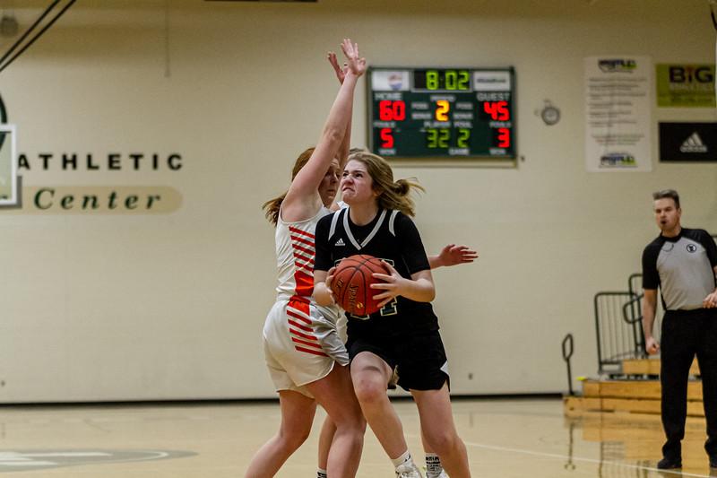 Holy Family Varsity Girls Basketball vs. Delano, 1/10/20: Sophia Zay '24 (24)