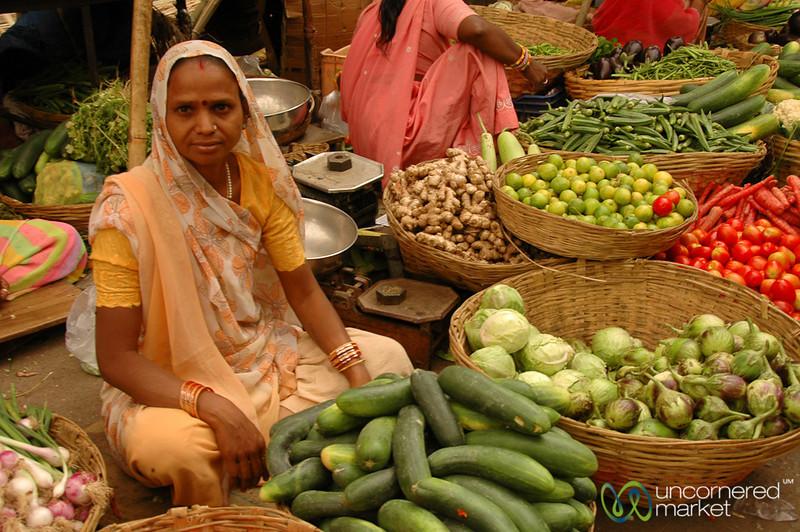 Market Vendor in Udaipur, India