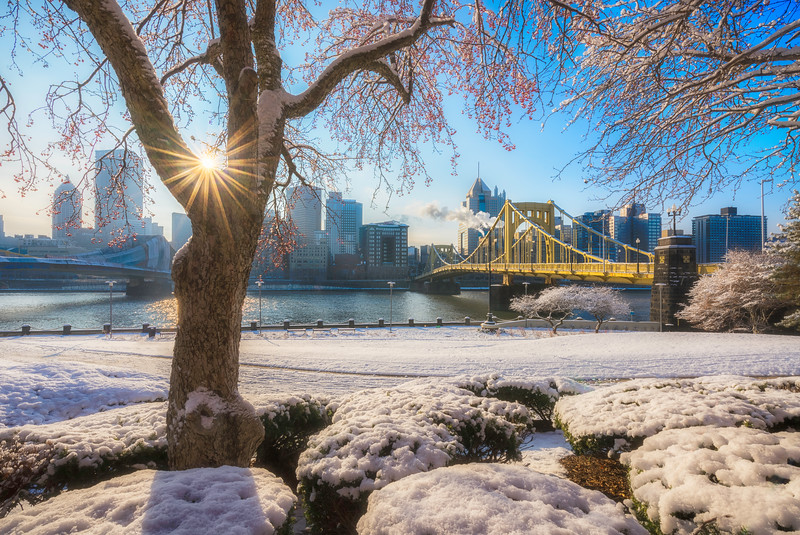 """Snow Flare"" - Pittsburgh, North Shore   Recommended Print sizes*:  4x6  