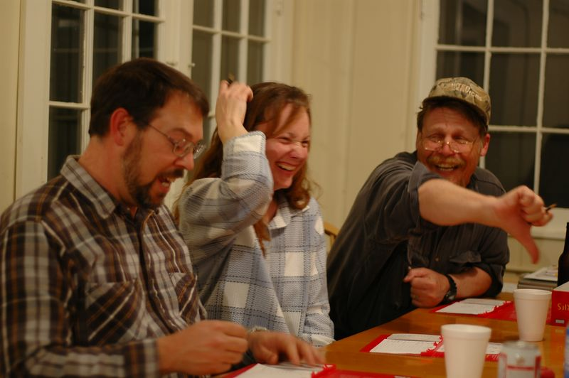 Chris gets voted down in Scattergories.