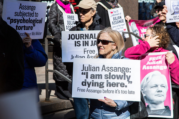 Free Assange - NYC - Feb 24