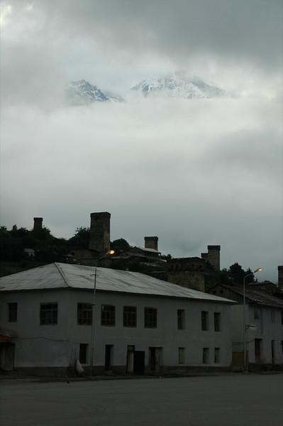 Cloudy Day with Mountain Peaks - Svaneti, Georgia