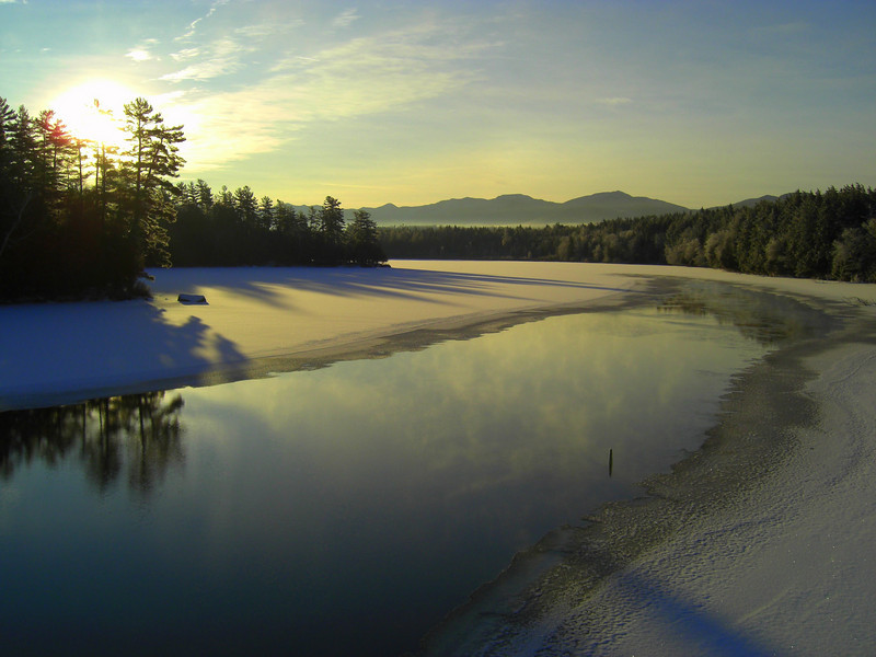 Second Pond, Christmas morning, 2009.CIMG0844.JPG