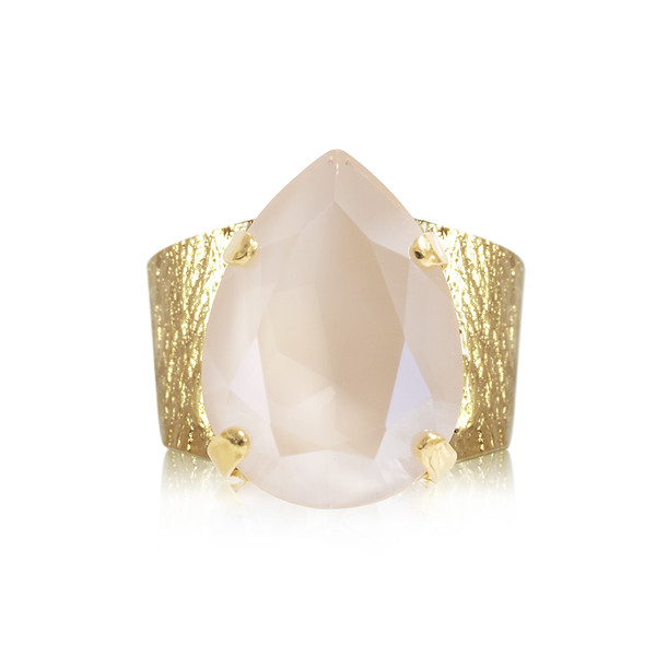 Classic Drop Ring / Ivory Cream Gold