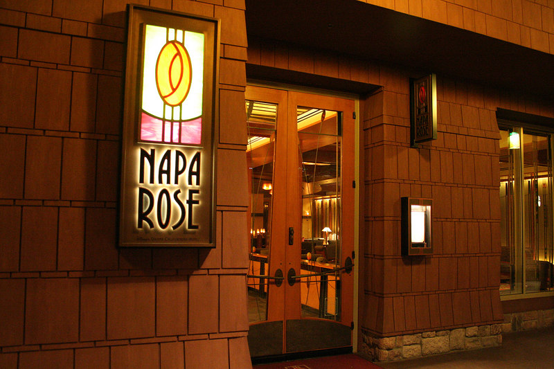 We were able to go to the Napa Rose restaurant - a little too pricy for our taste but the food was absolutely excellent!