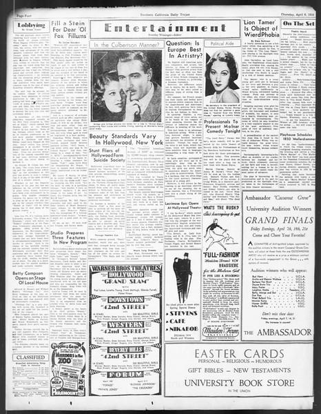 Daily Trojan, Vol. 24, No. 122, April 06, 1933