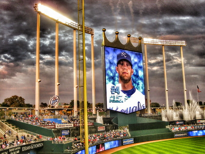 Alex Gordon Scoreboard at the K