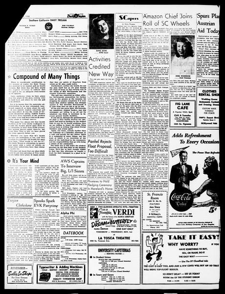 Daily Trojan, Vol. 40, No. 37, November 02, 1948