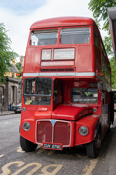 Red Bistro Bus in Edinburgh