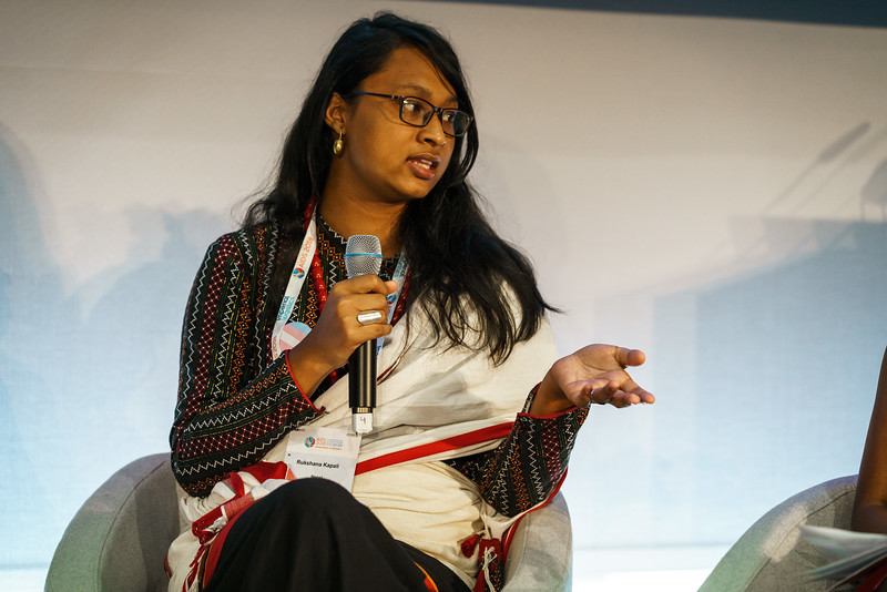 22nd International AIDS Conference (AIDS 2018) Amsterdam, Netherlands.   Copyright: Matthijs Immink/IAS  Integration in Practice: First-Hand Accounts from Clients and Health Care Providers   Photo shows (panel left to right):   Rukshana Kapali, Youth LEAD, Nepal