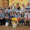 Pictured are the winners of an Art Competition held in St Mary's P.S. Mulaghbawn along with, Bernadette Grant and Rose O'Neill from the Alzheimers Ti Chulainn. Also in picture are PTA members, Local Councillor Anthony Flynn and School Master Mr Peter McDonald. 07W15N10