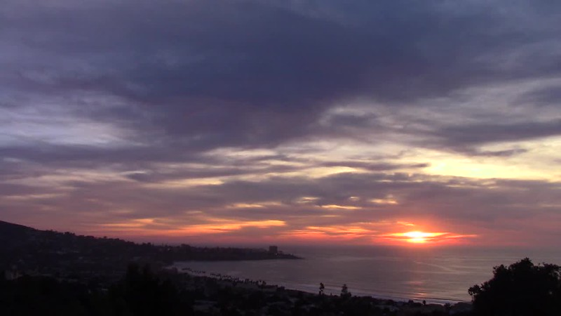 La Jolla Fire in the Sky Sunset