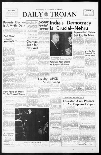 Daily Trojan, Vol. 57, No. 80, March 03, 1966