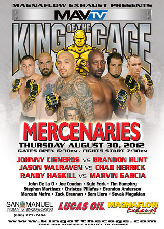 King of the Cage 08-30-12