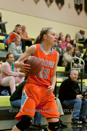 Boone @ Bishop Moore Girls Varsity Basketball - 2012