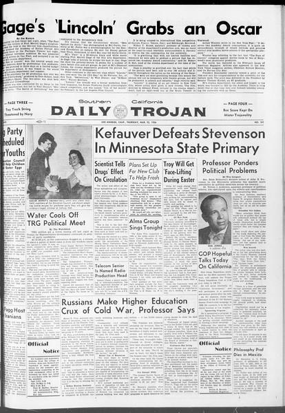 Daily Trojan, Vol. 47, No. 101, March 22, 1956