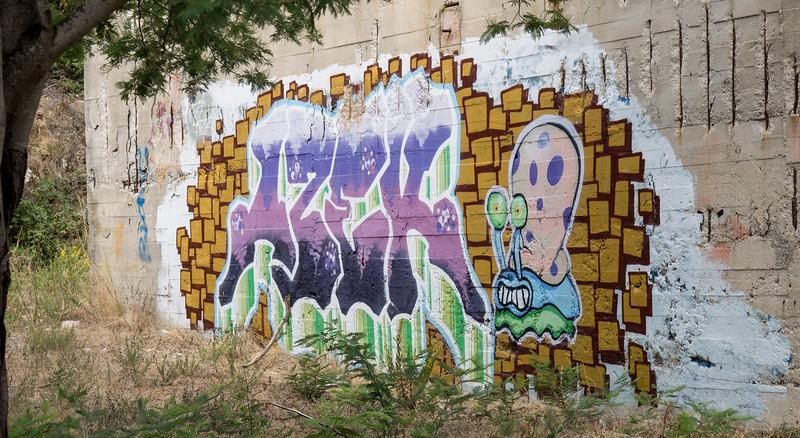 Grafitti at a disused quarry